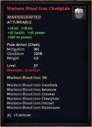Warborn Blood Iron Chestplate