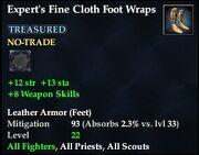Expert's Fine Cloth Foot Wraps