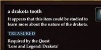 A drakota tooth