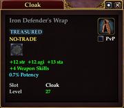 Iron Defender's Wrap