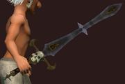 Fierce Lucanic Gladius (Equipped)