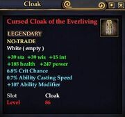 Cursed Cloak of the Everliving