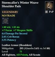 Stormcaller's Winter Weave Shoulder Pads