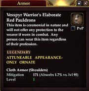Vesspyr Warrior's Elaborate Red Pauldrons