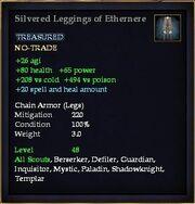 Silvered Leggings of Ethernere