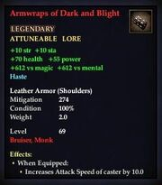 Armwraps of Dark and Blight