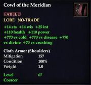 Cowl of the Meridian