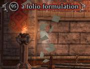 A folio formulation