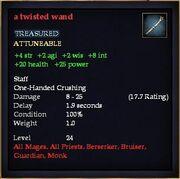 A twisted wand