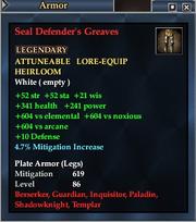 Seal Defender's Greaves