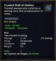 Cracked Staff of Destiny