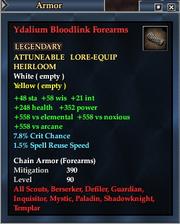 Ydalium Bloodlink Forearms
