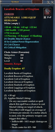 Lavalink Bracers of Eruption