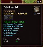 Plainrider's Belt