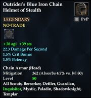 Outrider's Blue Iron Chain Helmet of Stealth