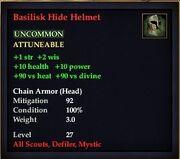 Basilisk Hide Helmet