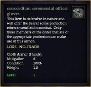 Concordium ceremonial officer gloves
