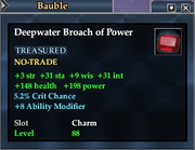 Deepwater Broach of Power