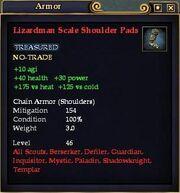 Lizardman Scale Shoulder Pads