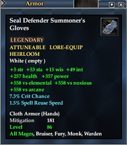 Seal Defender Summoner's Gloves