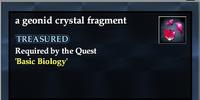 A geonid crystal fragment