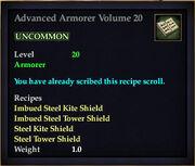 Advanced Armorer Volume 20