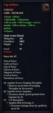 Cap of Force