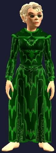 Festive Green Robe (Equipped)