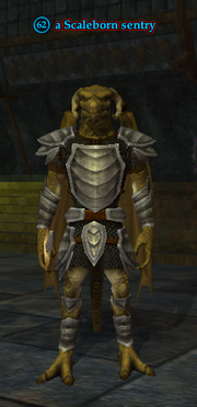 A Scaleborn sentry (Sanctum of the Scaleborn)