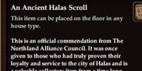 An Ancient Halas Scroll