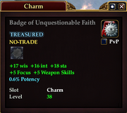 Badge of Unquestionable Faith