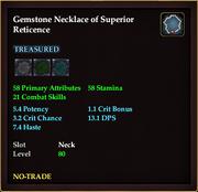 Gemstone Necklace of Superior Reticence