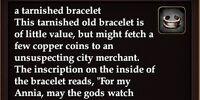 A tarnished bracelet