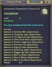 Alchemist Essentials Volume 41