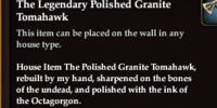 The Legendary Polished Granite Tomahawk