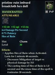 Pristine ruin imbued broadcloth hex doll