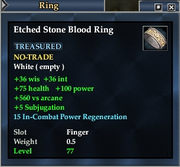 Etched Stone Blood Ring