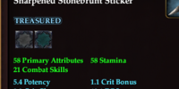Sharpened Stonebrunt Sticker