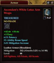 Ascendant's White Lotus Arm Wraps