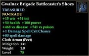 Gwalnax Brigade Battlecaster's Shoes