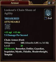 Lookout's Chain Shoes of Agility