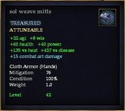 Sol weave mitts