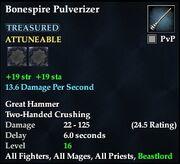 Bonespire Pulverizer