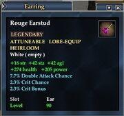 Rouge Earstud
