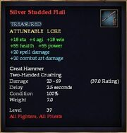 Silver Studded Flail