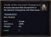 Cloak of the Ancient Champions