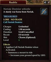 Neriak Destrier whistle