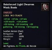 Reinforced Light Dwarven Work Boots