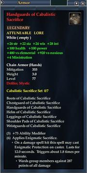 Handguards of Cabalistic Sacrifice