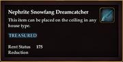 Nephrite Snowfang Dreamcatcher